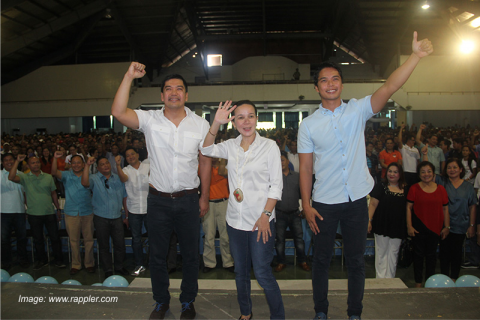 Grace Poe flips on stand against political dynasties, teams up with CamSur's Villafuertes